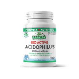 Bio-active acidophilus - 100 capsule - reface flora bacteriană