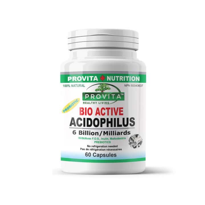 Bio-active acidophilus - 60 capsule - reface flora bacteriană