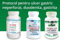 Protocol pentru ulcer gastric neperforat, duodenita, gastrita